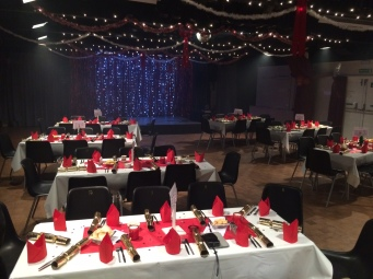 Theatre 62 set up for Christmas Party 2016