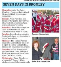 Good Things in the Bromley Times - 29 Nov 12 (not Peter Pan...)