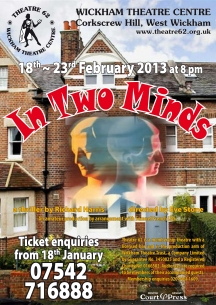 In Two Minds poster - Theatre 62 - February 2012