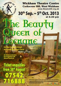 The Beauty Queen of Leenane - Sept 2013 - poster