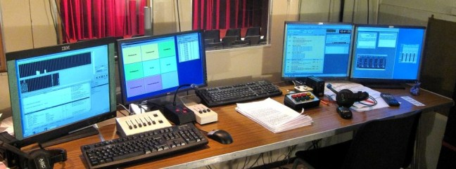 lighting & sound desk from the control box