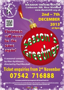 Seasons Greetings poster QR