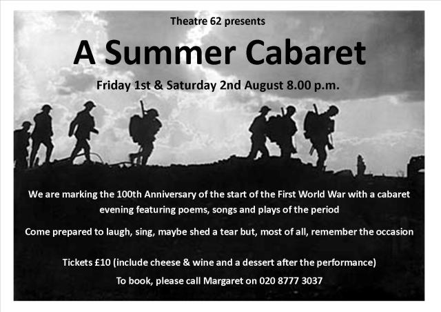 WW1 summer cabaret Aug 14