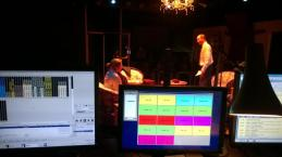 in rehearsal - the view from the lighting & sound desk