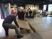 building the stage