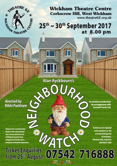 Neighbourhood Watch by Alan Ayckbourn - poster
