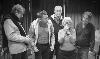 The Ladykillers in rehearsal
